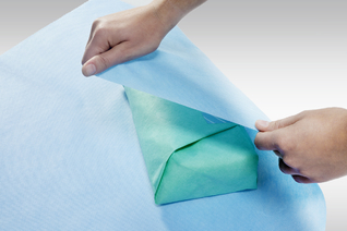 STERISHEET ArjoWrap 2™ Platinum blau, grün Sterilisationsvlies